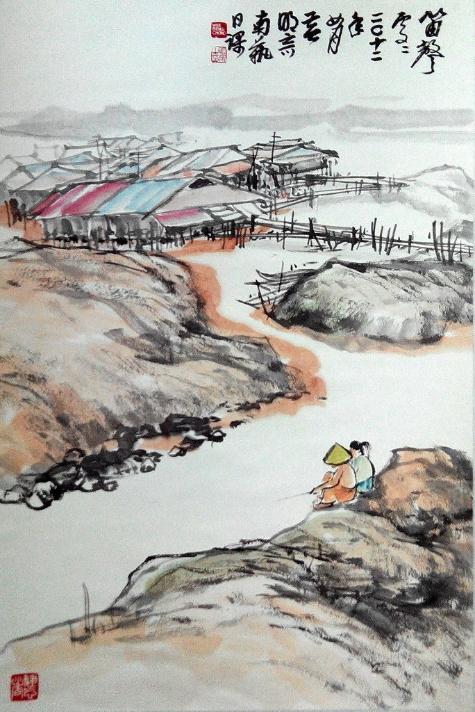 河边取乐2012.0469 x 43cm(6;)
