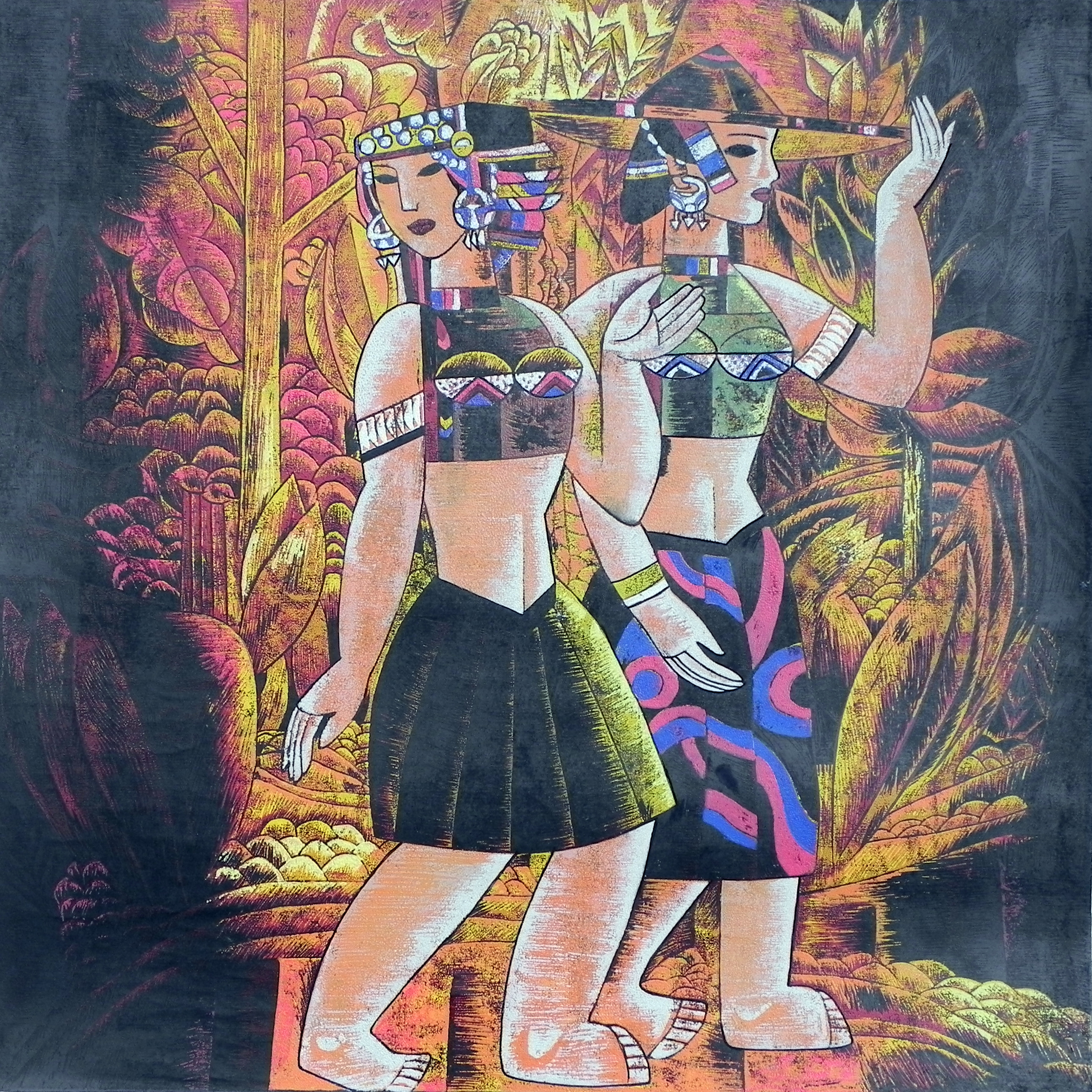Wang Yu Hui--3  50 x50cm Lithograph $ 1,000
