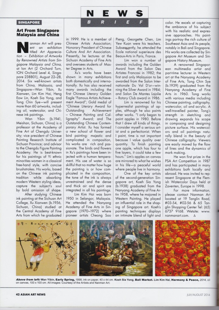 Article from Asia Art News